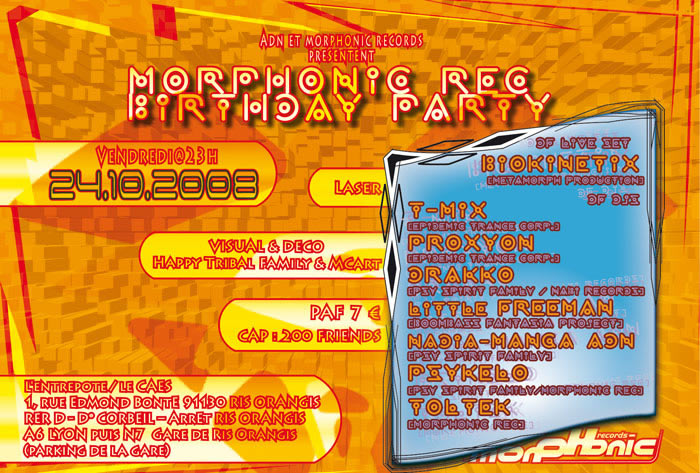 24/10/2008:MORPHONIC REC Birthday Party