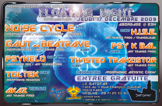 [PARIS] 17/12/2009 FREE Party - FLOATING NIGHT